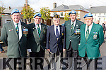 Former servicemen at the Milltown 1916 commemorations on Sunday alan Hanafin Tralee, Thomas Bermingham Traleee Post 32 Chairman Kerry, Commander Liam Kane American Legion, Eugene Murphy and Tony Carroll both Tralee