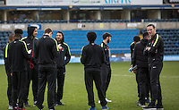 Player Manager Kevin Nolan out with his players for his first match in charge during the Sky Bet League 2 match between Wycombe Wanderers and Leyton Orient at Adams Park, High Wycombe, England on 23 January 2016. Photo by Massimo Martino / PRiME Media Images.