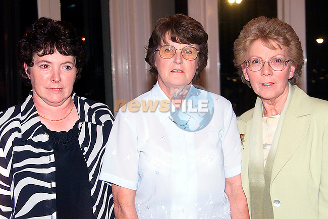Anne Dolan, Mary Neacy and Rose Russell at the Greenanstown School Reunion in the Europa Hotel..Picture: Paul Mohan/Newsfile