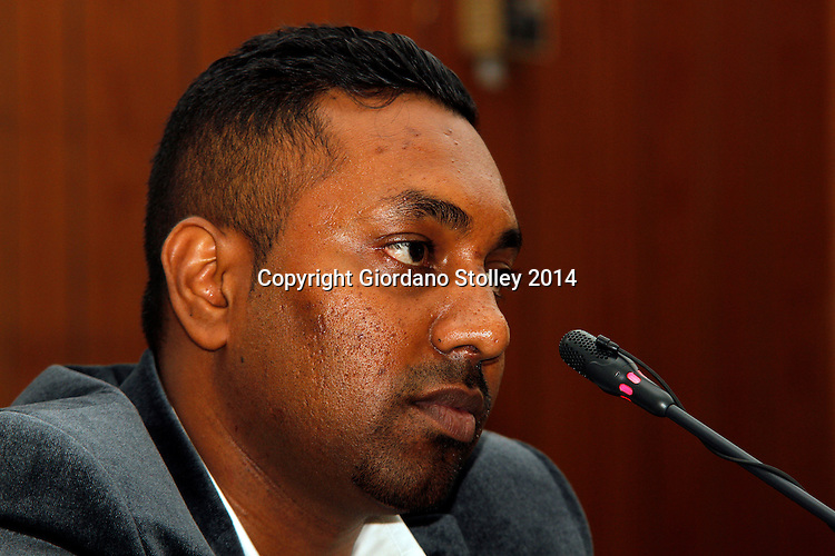 DURBAN - 24 July 2014 - Ravi Jagadasan, the owner of Rectangle Property Investments, the company that was developing the ill-fated Tongaat Mall, answers questions at a Department of Labour commission of inquiry established to probe the events that led to its collapse, killing two people and injuring 29 on November 19, 2013. Jagadasan is the son of controversial Durban businessman Jay Singh. Picture: Allied Picture Press/APP