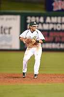 USF Bulls second baseman Nik Alfonso (8) throws to first during a game against the Louisville Cardinals on February 14, 2015 at Bright House Field in Clearwater, Florida.  Louisville defeated USF 7-3.  (Mike Janes/Four Seam Images)