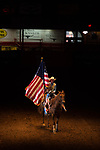 Flag Girl during first round of the Fort Worth Stockyards Pro Rodeo event in Fort Worth, TX - 6.28.2019 Photo by Christopher Thompson