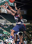 South Alabama Jaguars guard/forward Martino Brock (1) in action during the NCAA  basketball game between the South Alabama Jaguars and the University of North Texas Mean Green at the North Texas Coliseum,the Super Pit, in Denton, Texas. UNT defeated South Alabama 82 to 79...
