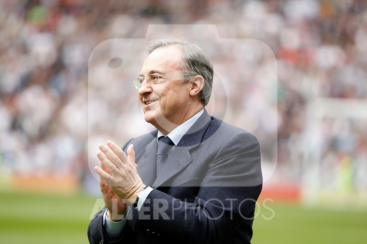 Real Madrid's President Florentino Perez before La Liga Match. April 02, 2011. (ALTERPHOTOS/Alvaro Hernandez)