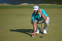 Dustin Johnson (USA) lines up his putt on 11 during day 1 of the WGC Dell Match Play, at the Austin Country Club, Austin, Texas, USA. 3/27/2019.<br /> Picture: Golffile | Ken Murray<br /> <br /> <br /> All photo usage must carry mandatory copyright credit (© Golffile | Ken Murray)