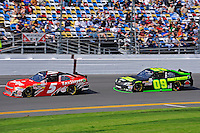 Dale Earnhardt, Jr. (#5) and Kenny Wallace (#09)