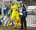 Hearts' keeper Jamie MacDonald explains how he got injured.