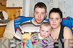 THERE WERE CELEBRATIONS in Castleisland on Tuesday.night when the town welcomed home little Lizzie Simmons,pictured with parents Elizabeth and Stuart .the two-year-old who sustained horrific injuries after being.scalded by boiling water at her home last November.   Copyright Kerry's Eye 2008