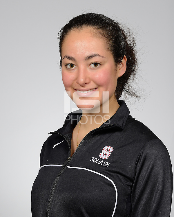 STANFORD, CA - JANUARY 9, 2012.  Stanford Women's Squash 2013 Portraits