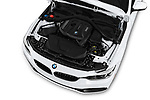 Car stock 2018 BMW 4 Series Gran Coupe 430i 5 Door Hatchback engine high angle detail view