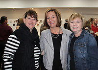 NWA Democrat-Gazette/CARIN SCHOPPMEYER Christine Meier (from left),  Susan Cunningham and Victoria Van Dusen visit at 5x5.