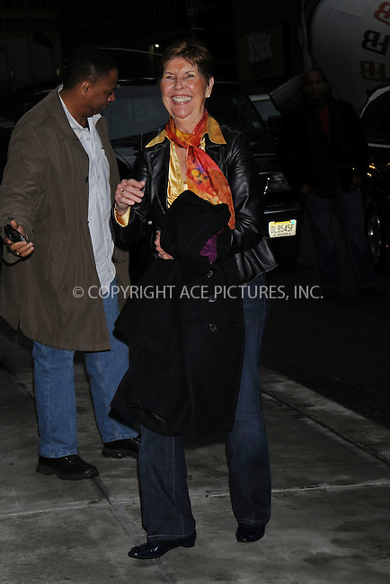 WWW.ACEPIXS.COM . . . . .  ....December 16 2008, New York City....Actor Tom Cruise's mother Mary Lee Mapother at the 'Late Show with David Letterman' on December 16 2008 in New York City....Please byline: KRISTIN CALLAHAN - ACEPIXS.COM..... *** ***..Ace Pictures, Inc:  ..tel: (212) 243 8787..e-mail: info@acepixs.com..web: http://www.acepixs.com