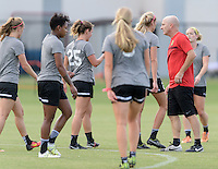 Houston, TX - Thursday Oct. 06, 2016: Paul Riley during training prior to the National Women's Soccer League (NWSL) Championship match between the Washington Spirit and the Western New York Flash at BBVA Compass Stadium.