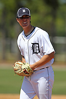 Detroit Tigers minor league player Kevin Eichorn #73 during a spring training game against the Houston Astros at Tiger Town on March 23, 2011 in Lakeland, Florida.  Photo By Mike Janes/Four Seam Images