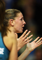Magic goalkeep Casey Williams appeals to the umpire during the ANZ Netball Championship match between the Waikato Bay of Plenty Magic and Adelaide Thunderbirds, Mystery Creek Events Centre, Hamilton, New Zealand on Sunday 19 July 2009. Photo: Dave Lintott / lintottphoto.co.nz