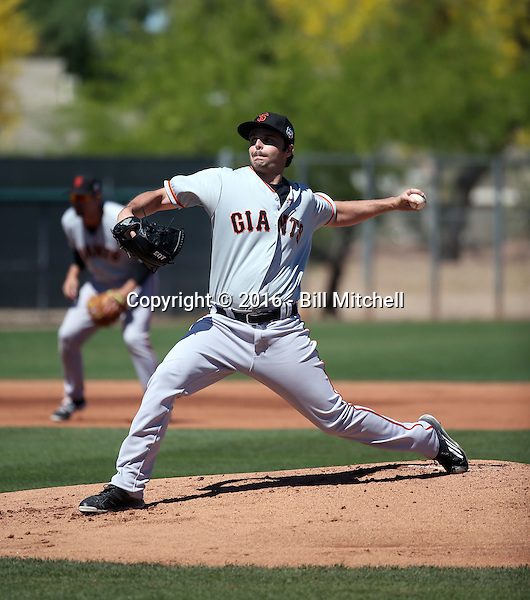 Andrew Suarez - San Francisco Giants 2016 spring training (Bill Mitchell)