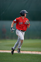 Boston Red Sox Grant Williams (2) runs to first base during a Minor League Spring Training game against the Baltimore Orioles on March 20, 2019 at the Buck O'Neil Baseball Complex in Sarasota, Florida.  (Mike Janes/Four Seam Images)