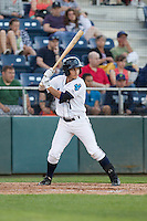 Taylor Smart #1 of the Everett AquaSox at bat against the Vancouver Canadians at Everett Memorial Stadium in Everett, Washington on July 9, 2014.  Everett defeated Vancouver 9-4.  (Ronnie Allen/Four Seam Images)