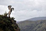 Tadgh o'Donoghue's sculpture of a horse dominates the Kerry Cork county bounds..Picture by Don MacMonagle