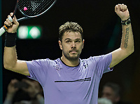 Rotterdam, The Netherlands, 11 Februari 2019, ABNAMRO World Tennis Tournament, Ahoy, first round singles: Stan Wawrinka (SUI),<br /> Photo: www.tennisimages.com/Henk Koster