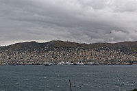 The Perama area where Border Control vessel HMC Valiant is located in Piraeus, Greece. Thursday 03 January 2019