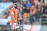 Blackpool's Curtis Tilt<br /> <br /> Photographer Kevin Barnes/CameraSport<br /> <br /> The EFL Sky Bet League One - Blackpool v Southend United - Saturday 9th March 2019 - Bloomfield Road - Blackpool<br /> <br /> World Copyright © 2019 CameraSport. All rights reserved. 43 Linden Ave. Countesthorpe. Leicester. England. LE8 5PG - Tel: +44 (0) 116 277 4147 - admin@camerasport.com - www.camerasport.com