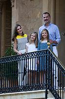 King of Spain Felipr VI, Queen of Spain Letizia Ortiz, Princess Leonor (2R) and Princess Sofia (2L)