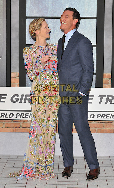 Emily Blunt and Luke Evans at the &quot;The Girl on the Train&quot; world film premiere, Odeon Leicester Square cinema, Leicester Square, London, England, UK, on Tuesday 20 September 2016.<br /> CAP/CAN<br /> &copy;CAN/Capital Pictures