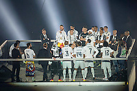 Real Madrid CF celebrate the Champions League