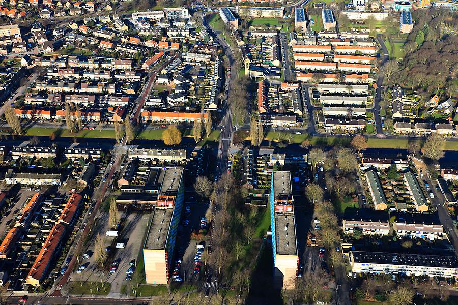 Nederland, Gelderland, Harderwijk, 20-01-2011; .De nieuwbouwwijk Stadsdennen.New housing estate in Harderwijk called Stadsdennen (Urban pines).luchtfoto (toeslag), aerial photo (additional fee required).copyright foto/photo Siebe Swart
