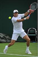 Wimbledon, 23/6/2014<br /> <br /> BERLOCQ, Carlos (ARG)<br /> <br /> © Ray Giubilo/ Tennis Photo Network