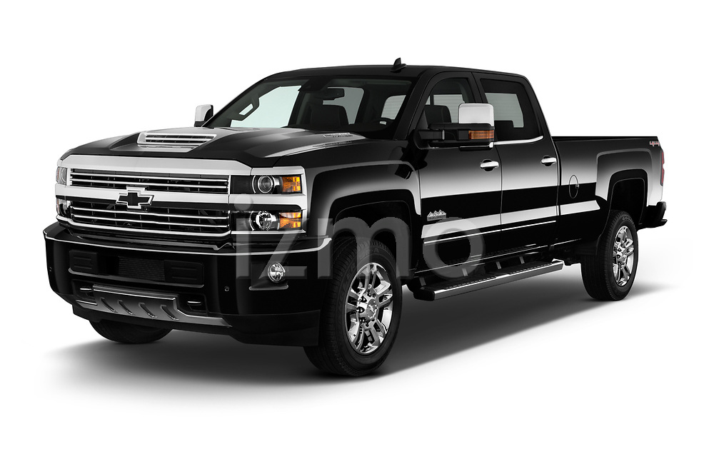 2017 Chevrolet Silverado-2500Hd High-Country-Crew-LWB 4 Door Pickup Angular Front stock photos of front three quarter view