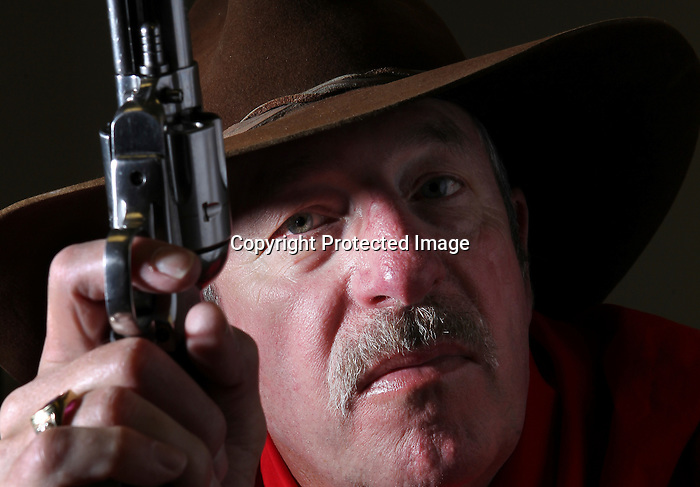 Bill Capozella is retired  from the Air Force and is a member of the Cheyenne Regulators. The Regulators are a cowboy action shooting club that  formed in 1996. Members try to keep alive the culture and history of the Old West through monthly competitive shooting contests featuring period dress and period weapons. Michael Smith/staff..