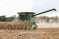 63801-07010 Farmer harvesting corn, Marion Co., IL