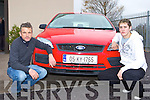Paul Mangan right and Batty Foley on hand to advise you on which car would suit your needs at Dungeel Motors     Copyright Kerry's Eye 2008