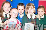 MULTICULTURAL: Having the world of fun at the Listowel KDYS Multicultural Day on Thursday were pupils of the Gaelscoil Lios Tuathail, Siobha?n Ni Chaoimh Ceallaigh, Caomhin O Conchuir, Abby Nic Mhathuna, Bobby O Lochlainn and Beibhinn Ni Dhonnchu.   Copyright Kerry's Eye 2008