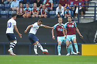 Preston North End's Graham Burke gets a shot on goal<br /> <br /> Photographer Mick Walker/CameraSport<br /> <br /> Football Pre-Season Friendly - Preston North End  v Burnley FC  - Monday 23st July 2018 - Deepdale  - Preston<br /> <br /> World Copyright &copy; 2018 CameraSport. All rights reserved. 43 Linden Ave. Countesthorpe. Leicester. England. LE8 5PG - Tel: +44 (0) 116 277 4147 - admin@camerasport.com - www.camerasport.com