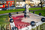 The Royal Munster Fusiliers Monument in Ballymullen after it was vandalised on Monday