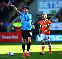 Southend United's Rob Kiernan celebrates scoring his side's first goal <br /> <br /> Photographer Richard Martin-Roberts/CameraSport<br /> <br /> The EFL Sky Bet League One - Blackpool v Southend United - Saturday 9th March 2019 - Bloomfield Road - Blackpool<br /> <br /> World Copyright © 2019 CameraSport. All rights reserved. 43 Linden Ave. Countesthorpe. Leicester. England. LE8 5PG - Tel: +44 (0) 116 277 4147 - admin@camerasport.com - www.camerasport.com