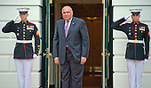 Sameh Shoukry, Minister of Foreign Affairs of the Arab Republic of Egypt arrives for the working dinner for the heads of delegations at the Nuclear Security Summit on the South Lawn of the White House in Washington, DC on Thursday, March 31, 2016.<br /> Credit: Ron Sachs / Pool via CNP