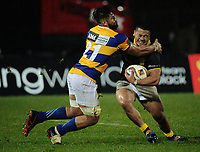Henry Stowers tries to tackle Asofa Aumua during the Mitre 10 Cup rugby union match between Bay of Plenty and Wellington at Rotorua International Stadium in Rotorua, New Zealand on Thursday, 31 August 2017. Photo: Dave Lintott / lintottphoto.co.nz