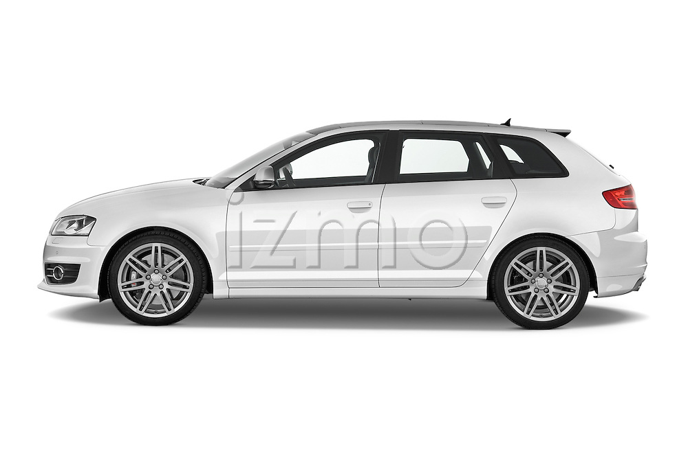 Driver side profile view of a 2009 - 2013 Audi S3 Sportback 5-Door Hatchback 4WD.
