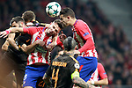Atletico de Madrid's Saul Niguez (l) and Lucas Hernandez during Champions League 2017/2018, Group C, match 5. November 22,2017. (ALTERPHOTOS/Acero)