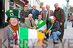 Killarney Mayor Donal O'Grady and the St Patrick's Day parade committee who are looking for support from Killarney people to make this years parade a success front row l-r: Noel Grimes, Martin O'Grady, Neilus O'Connor. Back row: Pat Sullivan, John Leen, Michael O'Leary, Sean Grady and John Linehan