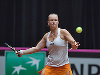 The Netherlands, Den Bosch, 20.04.2014. Fed Cup Netherlands-Japan, Kiki Bertens (NED)<br /> Photo:Tennisimages/Henk Koster