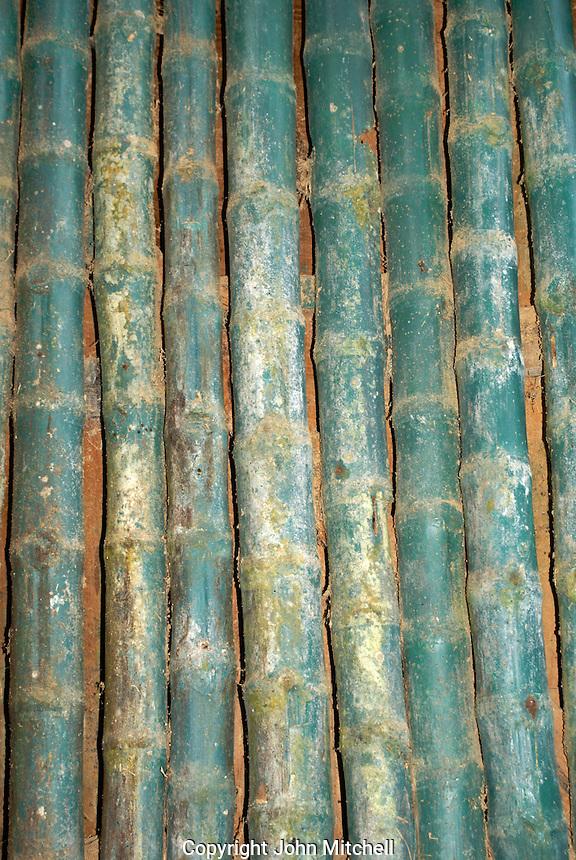Concrete bamboo at Las Pozas, the surrealistic sculpture garden created by  Edward James near Xilitla, Mexico
