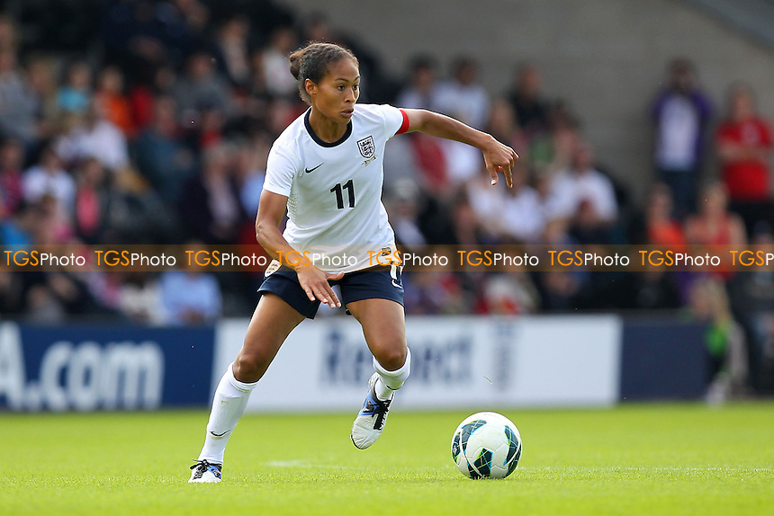 Rachel Yankey in action for England - England Women vs Japan Women - Friendly Football International at the Pirelli Stadium, Burton Albion FC - 26/06/13 - MANDATORY CREDIT: Gavin Ellis/TGSPHOTO - Self billing applies where appropriate - 0845 094 6026 - contact@tgsphoto.co.uk - NO UNPAID USE