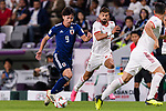 Minamino Takumi of Japan (L) fights for the ball with Ramin Rezaeiansemeskandi of Iran (R) during the AFC Asian Cup UAE 2019 Semi Finals match between I.R. Iran (IRN) and Japan (JPN) at Hazza Bin Zayed Stadium  on 28 January 2019 in Al Alin, United Arab Emirates. Photo by Marcio Rodrigo Machado / Power Sport Images