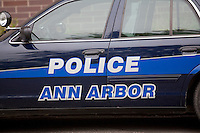 An Ann Arbor police car is seen in Ann Arbor, Michigan Friday June 7, 2013.