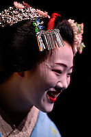 Jewels of Kyoto - Traditional Dance and Music by Maiko of Gion at Memorial Theatre, Victoria University, Wellington, New Zealand on Saturday 5 March 2016.<br /> Photo by Masanori Udagawa. <br /> www.photowellington.photoshelter.com.